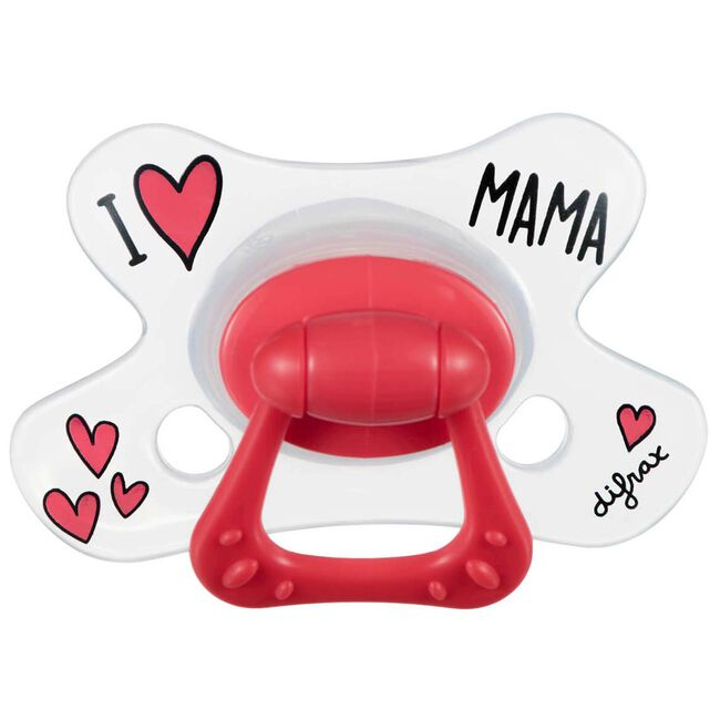 Difrax fopspeen natural 'I love mama' 6+ maanden -