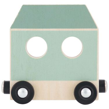 Prénatal houten namentrein wagon -