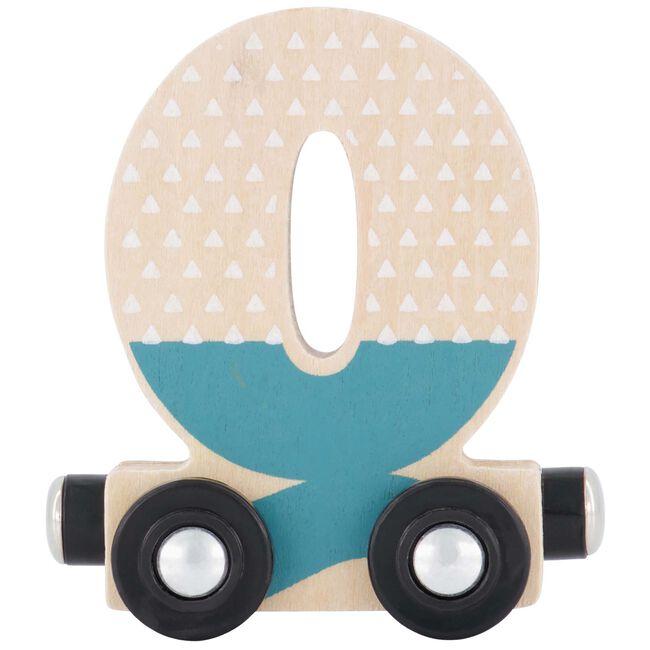 Prénatal houten namentrein letter Q - Turquoise