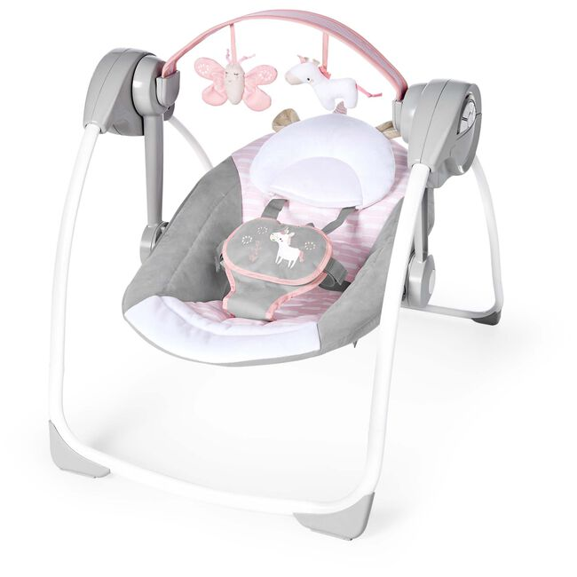 Ingenuity Comfort 2GO Portable Swing Flora - Light Pink