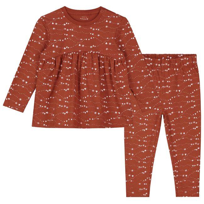 Prénatal peuter pyjama - Dark Orange Brown