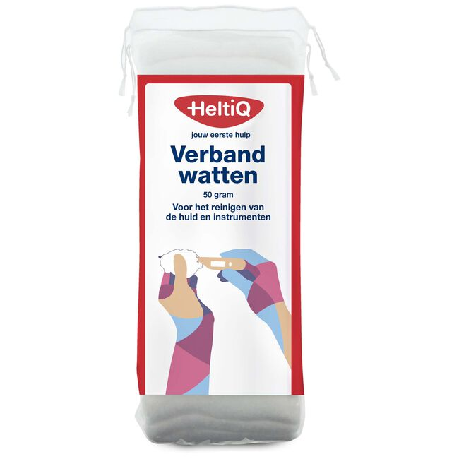 Heltiq verbandwatten 50 gram - White