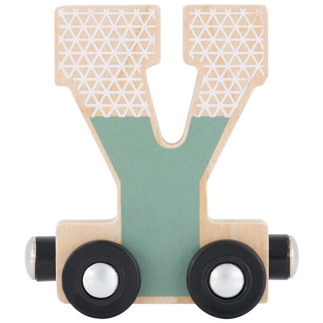Prénatal houten namentrein letter Y - Groen