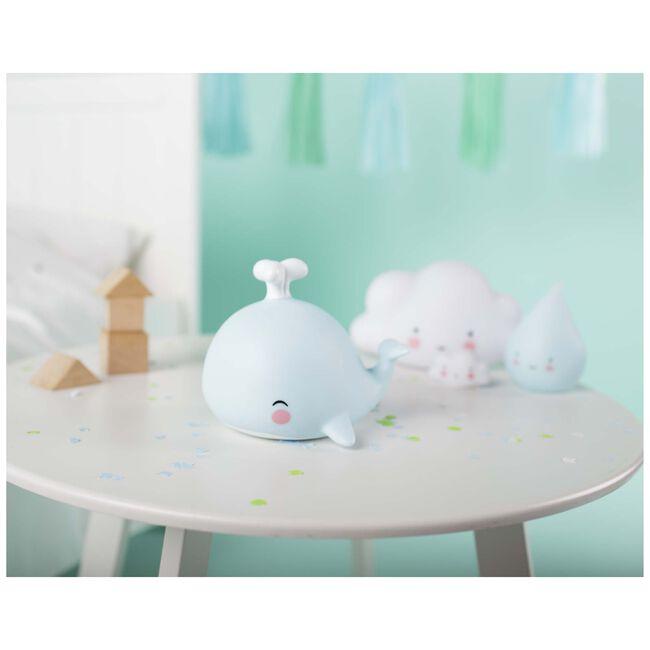 a Little Lovely Company nachtlampje walvis - Blue