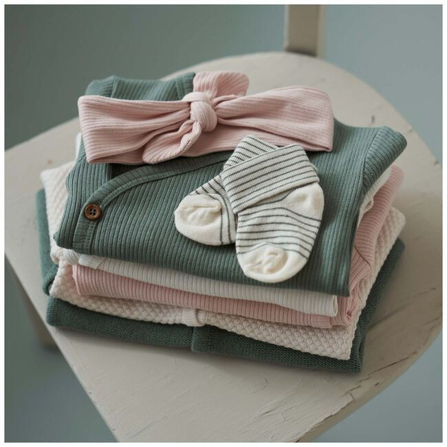 Prénatal newborn meisjes overslag vestje - Dark Off-White