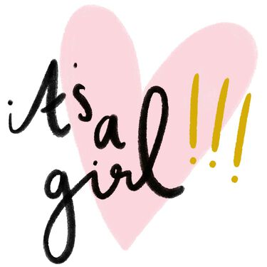 Caroline Gardner wenskaart It's a girl -