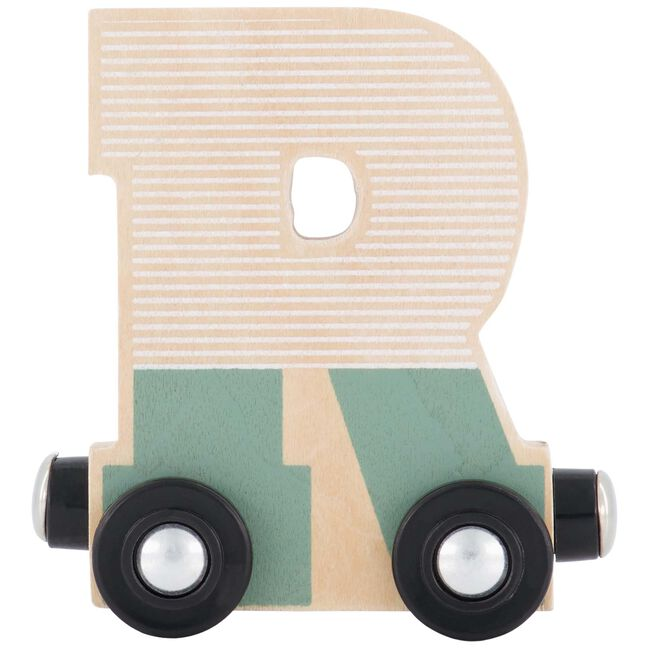 Prénatal houten namentrein letter R - Multi