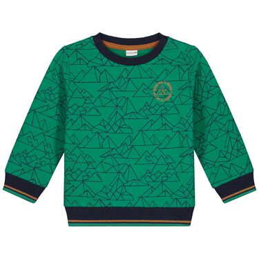 Play All Day baby sweater - Leaf Gree