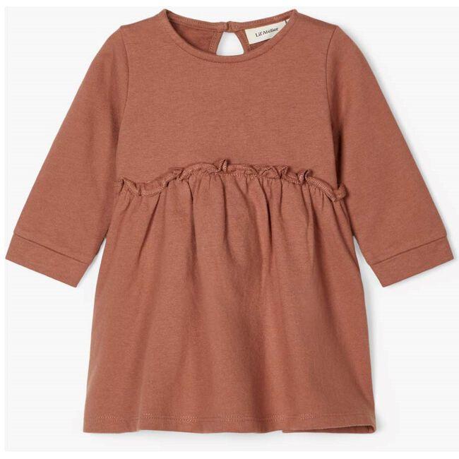 Lil Atelier meisjes jurk - Light Redshade