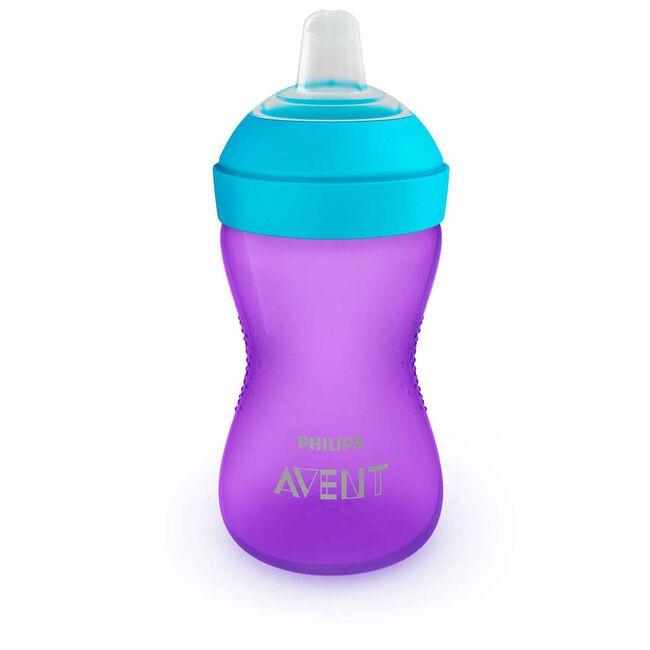 Philips Avent My Grippy zachte tuitbeker 300ml 9mnd+ - Purple