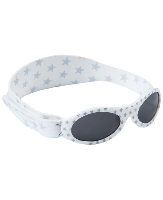 Dooky BabyBanz zonnebril Silver Star - White