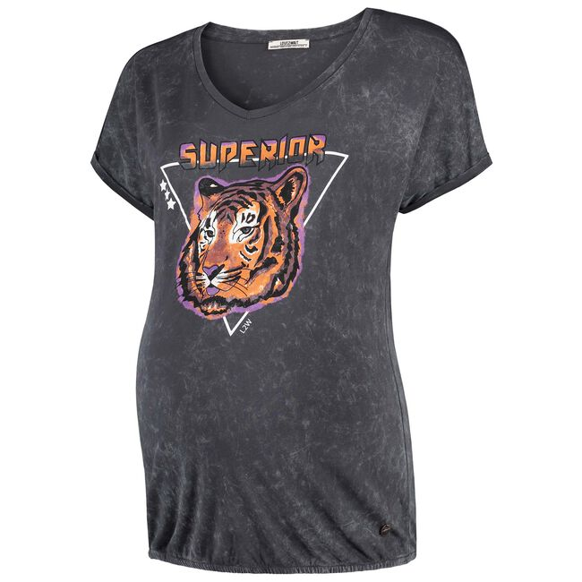 Love2Wait zwangerschaps T-shirt - Darkgrey