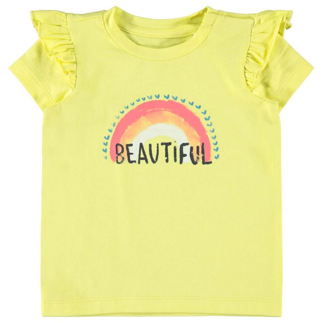 Name it baby meisjes T-shirt - Yellow