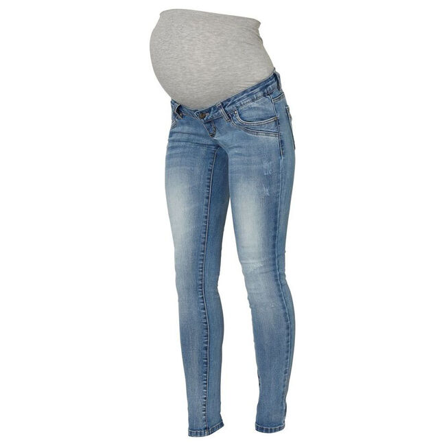 Mamalicious zwangerschaps jeans - Lt Denim