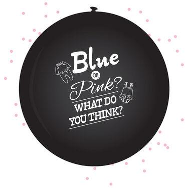 Gender Reveal ballon meisje incl. confetti - 60 cm -