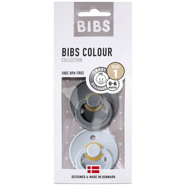 Bibs fopspeentje Size 1 - Irone/ Baby Blue