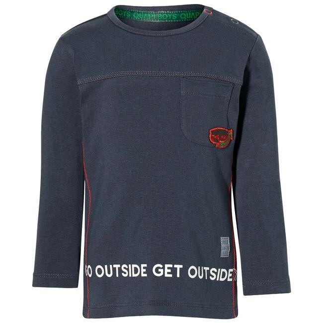 Quapi peuter jongens sweater - Darkgrey