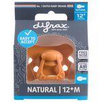 Difrax fopspeen Natural Pure 12+ maanden - Orange