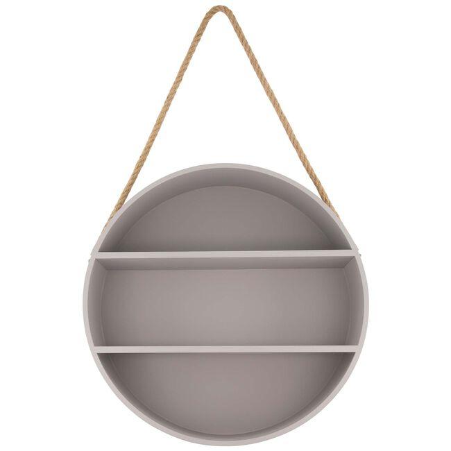 Prenatal ronde wandplank grijs - Midgrey