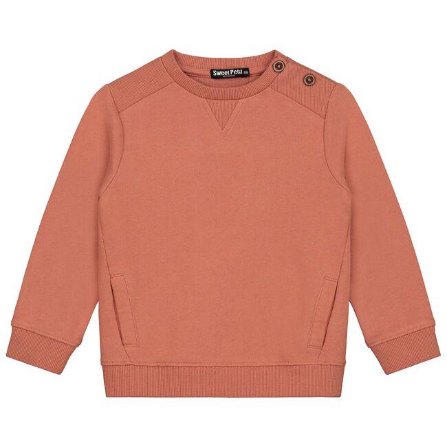 Sweet Petit baby jongens sweater Sam - Red Shade