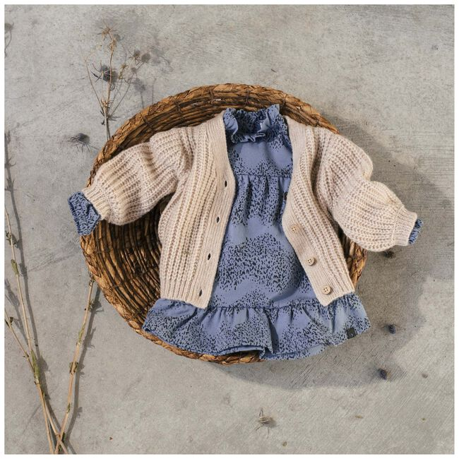 Sweet Petit baby meisjes vest Sammy - Soft Ecru Melange