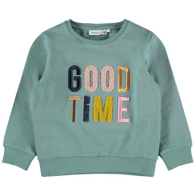 Name it peuter meisjes sweater - Mintgreen