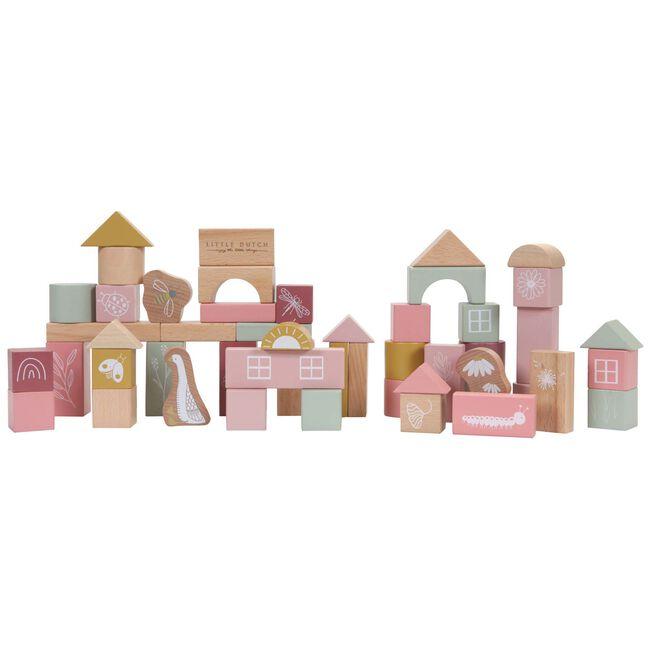 Little Dutch houten blokken in ton -