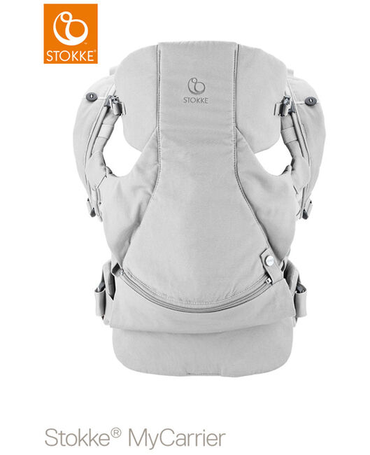 Stokke MyCarrier buikdrager - Grey Cotton