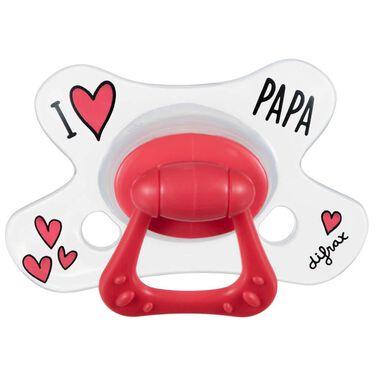 Difrax fopspeen natural 'I love papa' 12+ maanden -