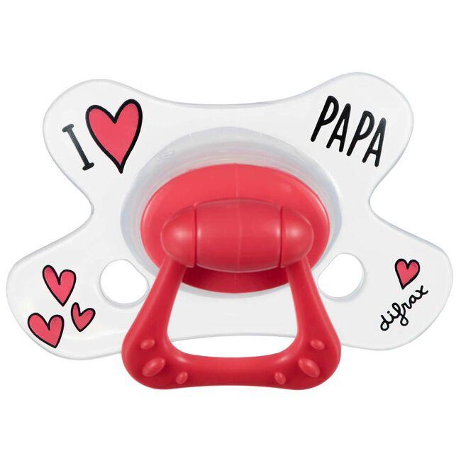 Difrax fopspeen natural 'I love papa' 12+ maanden - I Love Papa