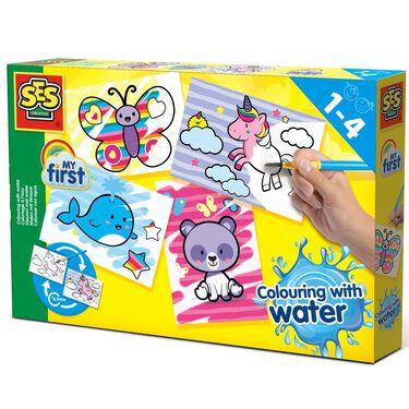 SES My First kleuren met water fantasiedieren -
