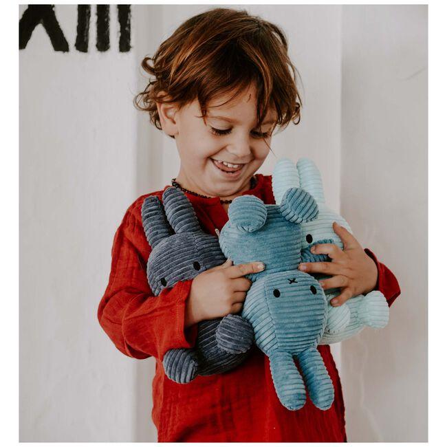 Nijntje knuffel corduroy 23cm - Indigo Blue