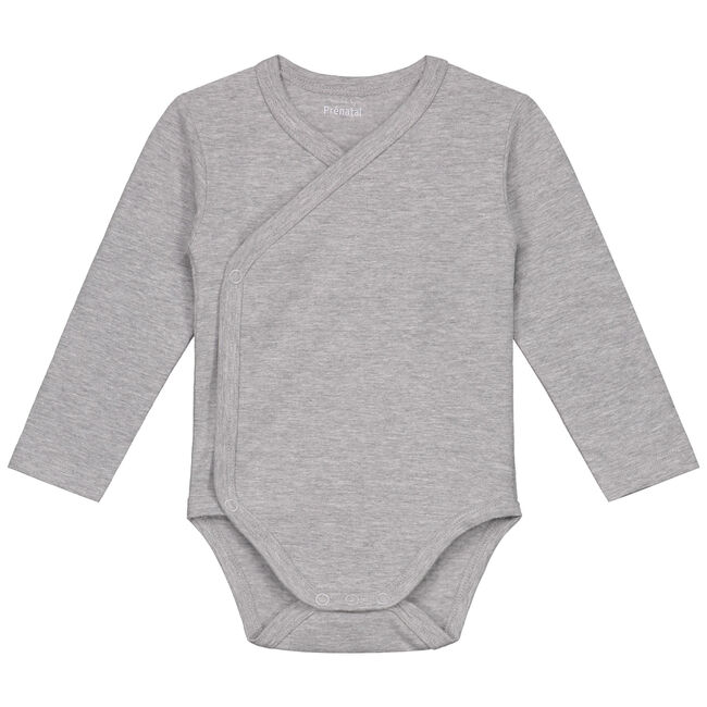 Prénatal basis overslag romper - Grey Melee Light
