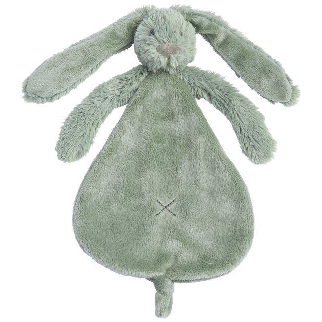 Happy Horse Rabbit Richie knuffeldoekje - Light Green Melange