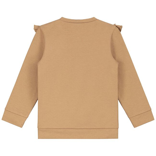 Prenatal peuter meisjes sweater - Light Taupe Brown