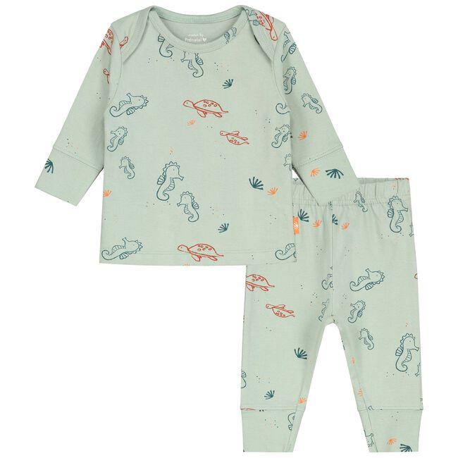 Prenatal baby unisex pyjama - Light Mint Green