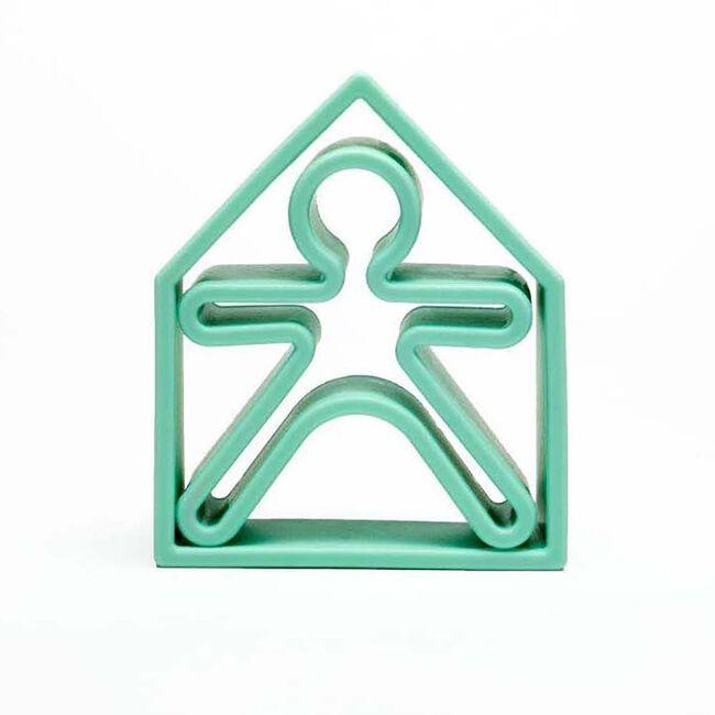 Dëna siliconen speelgoed huisje + popje - Mintgreen