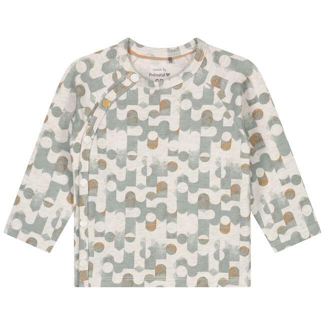 Prénatal newborn jongens overslag shirtje - Dark Mint Green