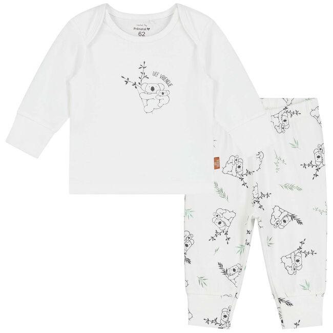 Prénatal unisex baby pyjama - White