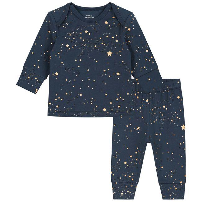 Prenatal baby unisex pyjama - Indigo Blue