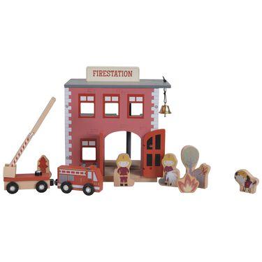 Little Dutch treinbaan brandweerkazerne -