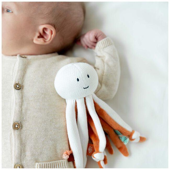 Prénatal knuffeldoekje octopus sealife - Ivoor Wit