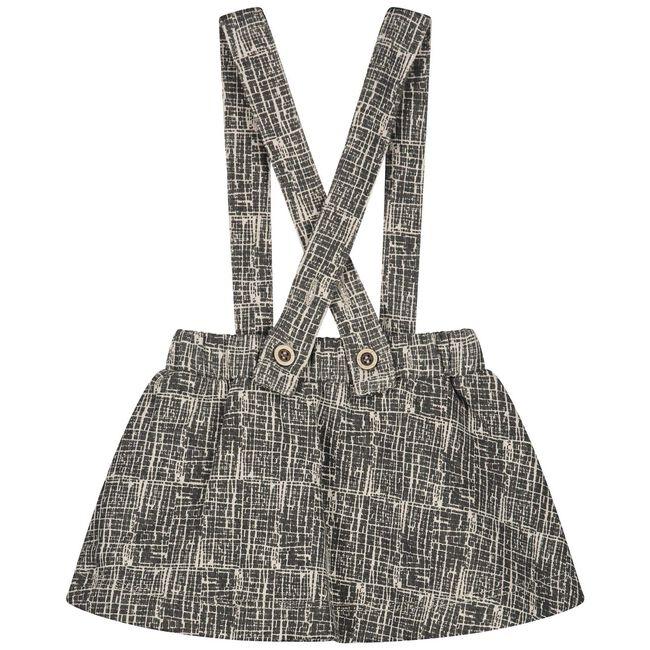 Sweet petit baby meisjes jurk Milou - Black/Brown