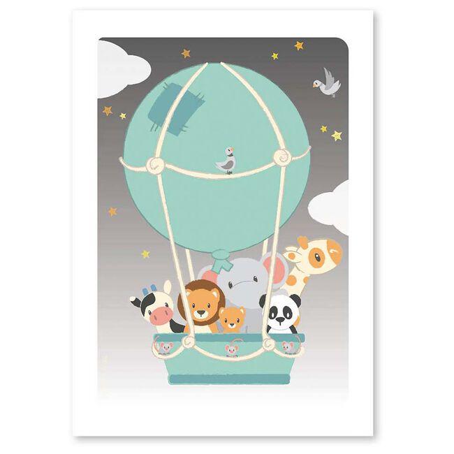 Studio Circus A6 kaart luchtballon - Mintgreen