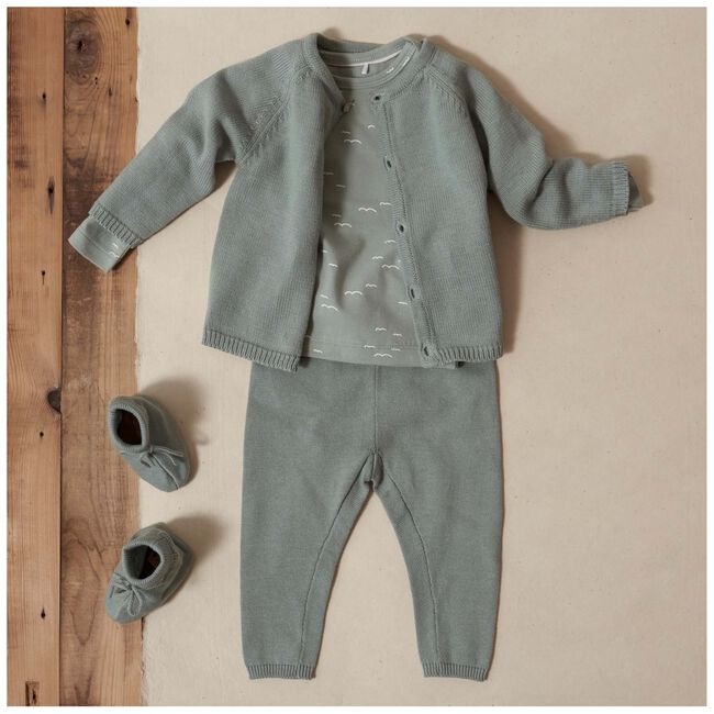 Prénatal newborn jongens shirtje - Dark Mint Green