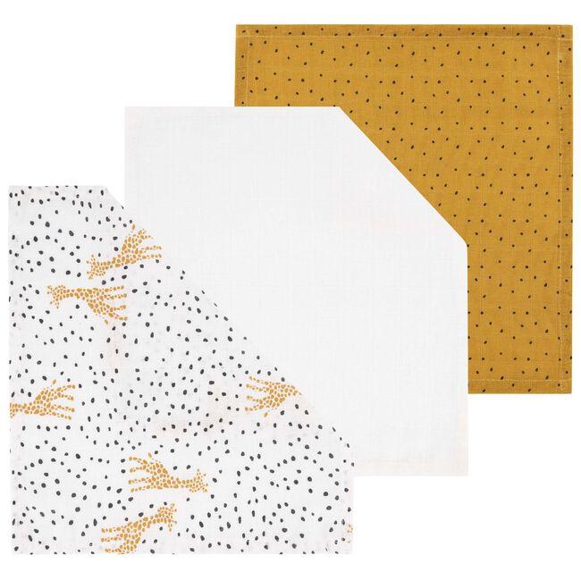 Prénatal hydrofiele monddoek giraffe - Yellow