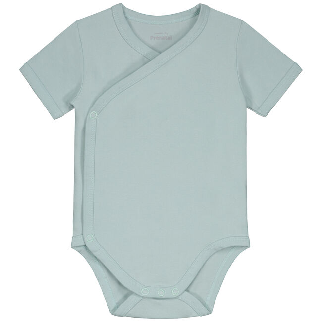 Prénatal basis overslag romper - Light Mint Green