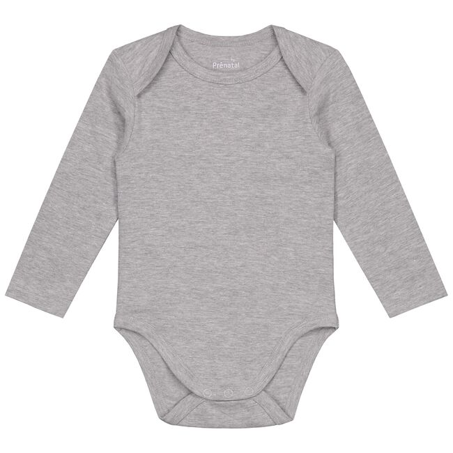 Prénatal basis romper - Grey Melee Light