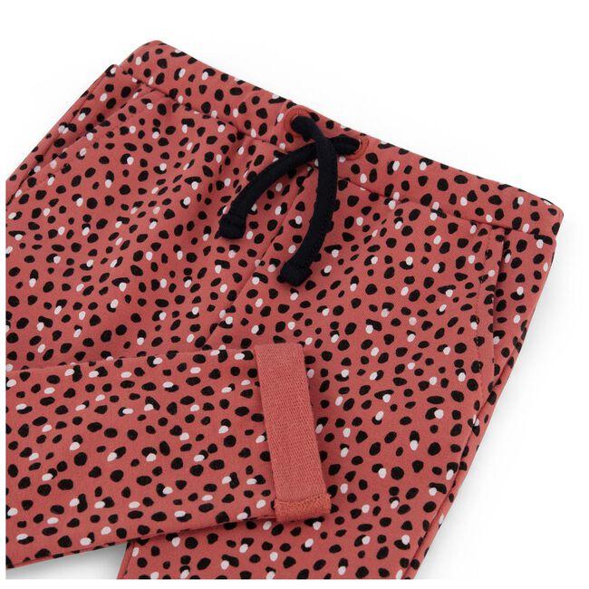 Prenatal peuter meisjes broek - Dark Coral Red