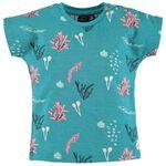 Babyface peuter meisjes T-shirt - Dark Turquoise Blue